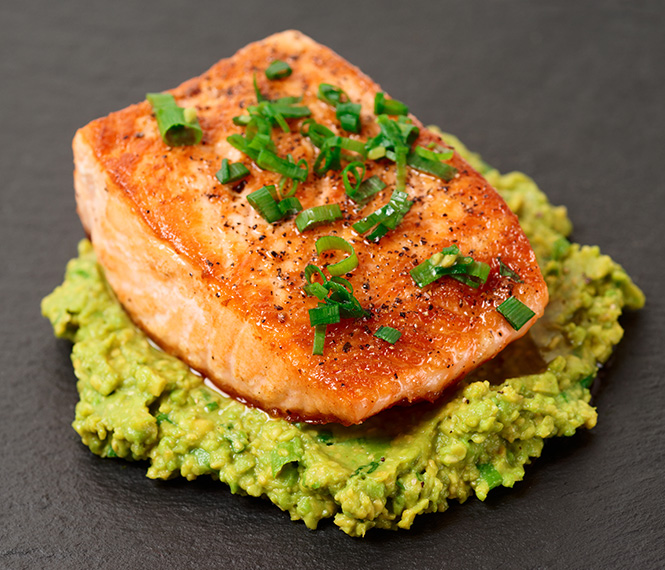 Easy Salmon with Avocado Mash