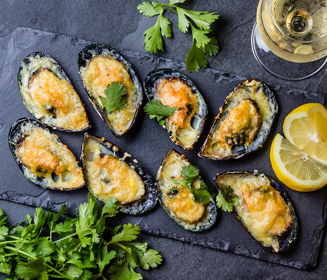 Green Mussels Au Gratin