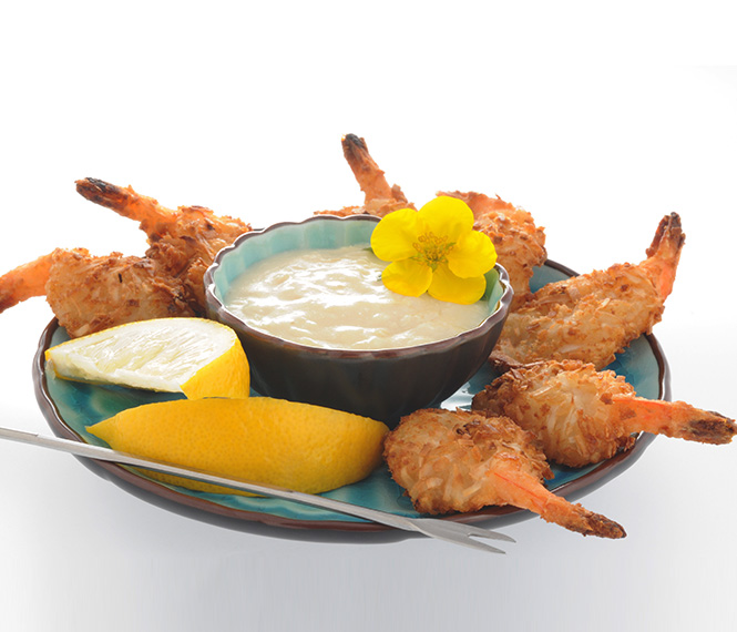 Coconut Shrimp with Piña Colada Dip
