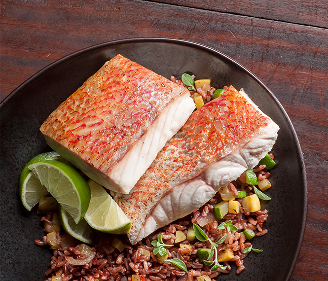 Snapper Fillets with Ginger Yogurt Sauce