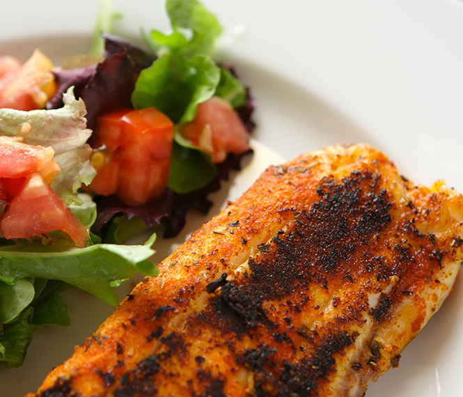 Blackened Tilapia with Cilantro-Limeslaw