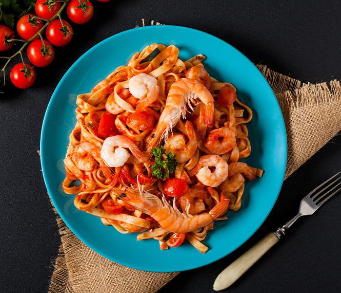Savory Shrimp Spaghetti