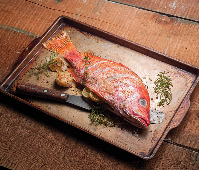 Oven Roasted Red Snapper