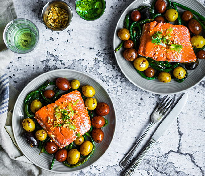 One-Pan Winter Salmon and Potatoes