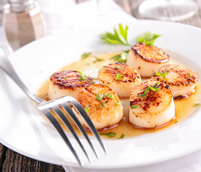 Valentine's Day Inspired Seared Scallops