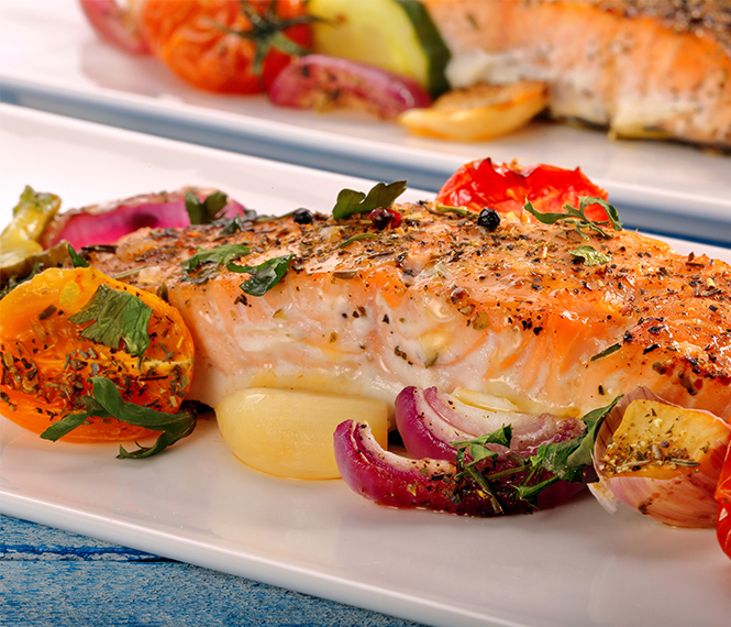 Spanish Baked Salmon