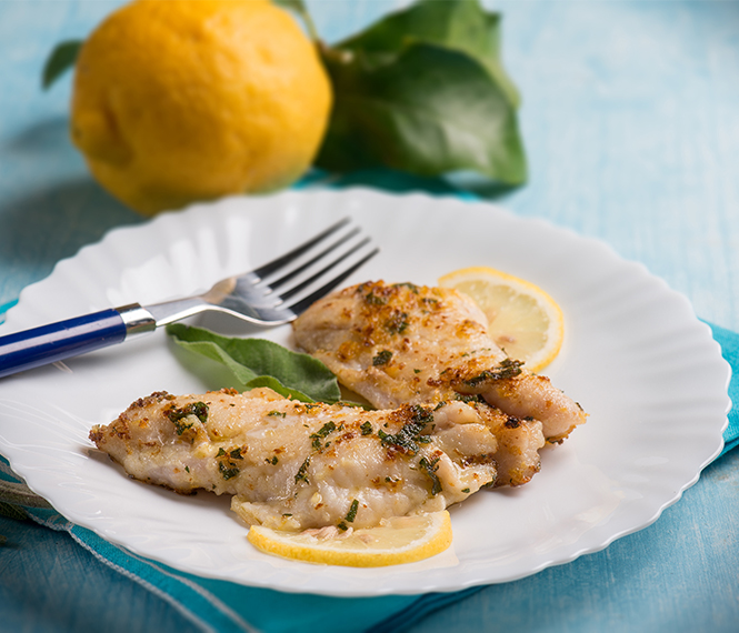 Lemon Garlic Whiting Fillets