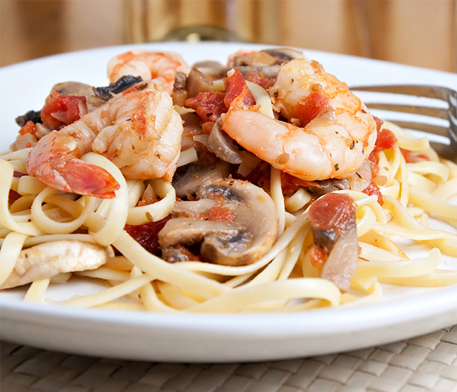 Tagliatelle with Shrimp and Mushrooms