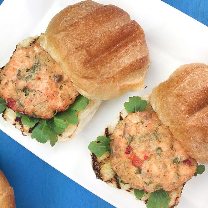 Air Fried Salmon Burgers