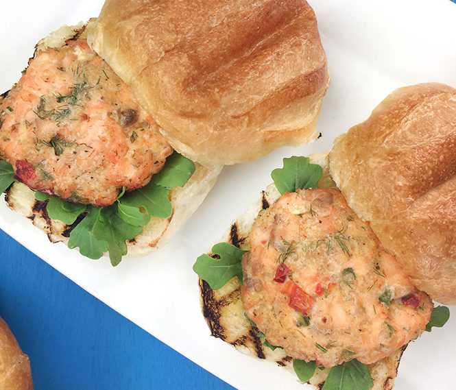 Air Fried Salmon Burgers