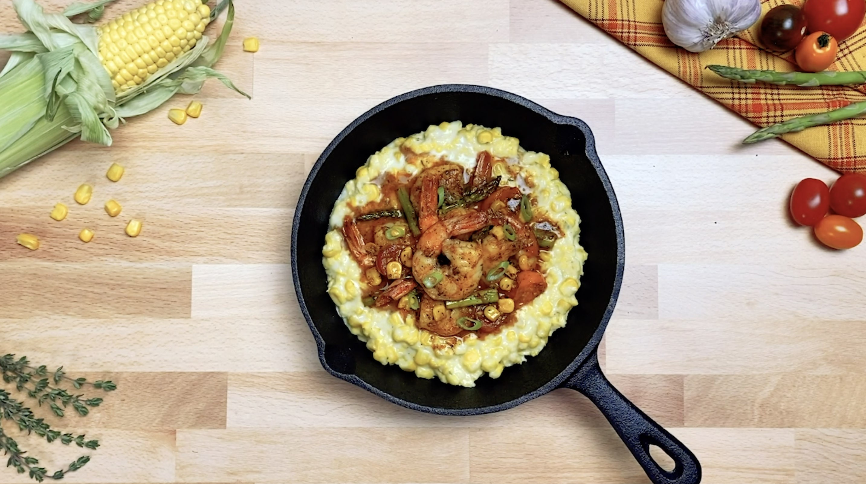 Southern Style Shrimp With Mambo Creamed Corn